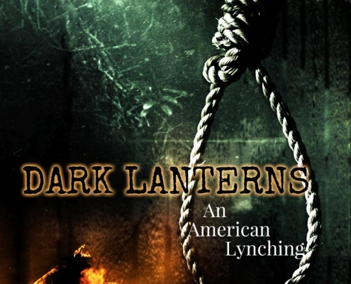 Dark Lanterns trie crime book cover design