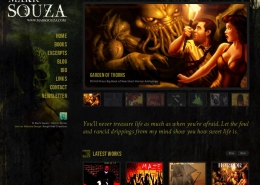 Website design for horror author Mark Souza