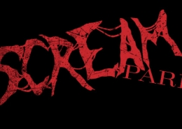 Scream Park title treatment design