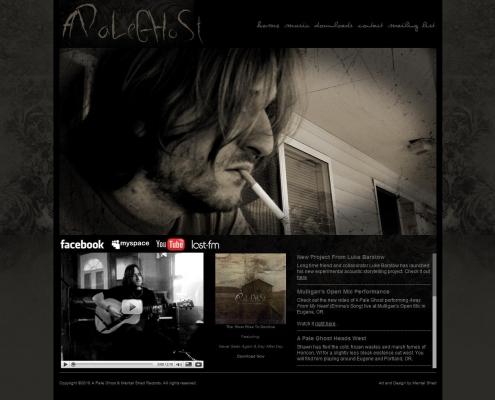 A Pale Ghost website design