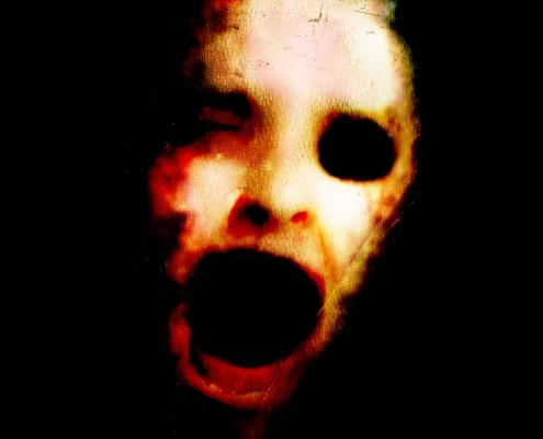Afraid of the Dark horror movie poster design