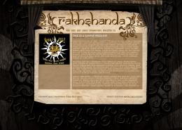 Rakhshanda Tribal Belly Dance website design