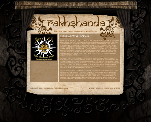 Rakhshanda Tribal Belly Dance website design