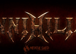 Annhilist thrash metal band logo design