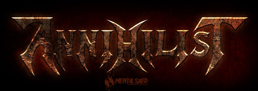 Annhilist thrash metal band logo design