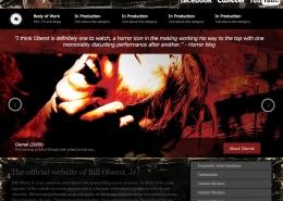 Bill Oberst Jr. horror website design