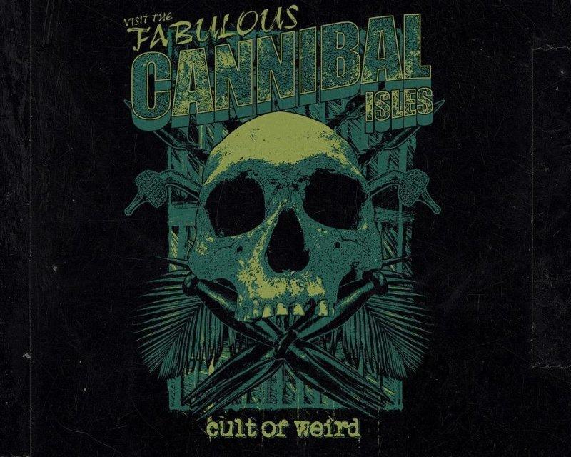 Cult of Weird Cannibal Isles t-shirt design