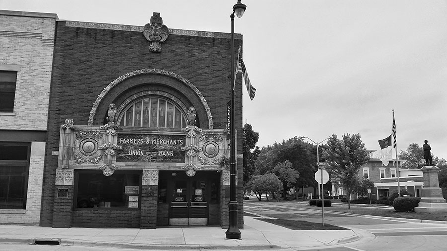 Farmer and Merchants Union Bank in Columbus, Wisconsin