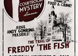 Courtroom Mystery Dinner flier design