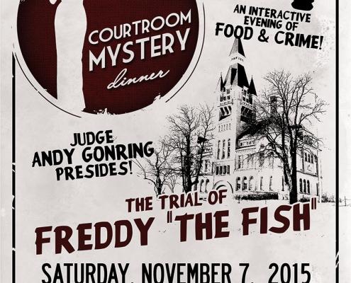 Courtroom Mystery Dinner flier design