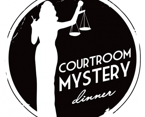 Courtroom Mystery Dinner logo design