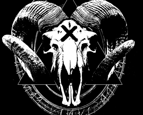 Cult of Weird Goat Skull T-shirt Design