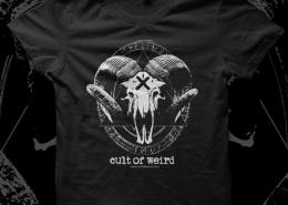 Cult of Weird Goat Skull T-shirt Design