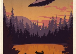 Dundee, WI UFO Travel Poster