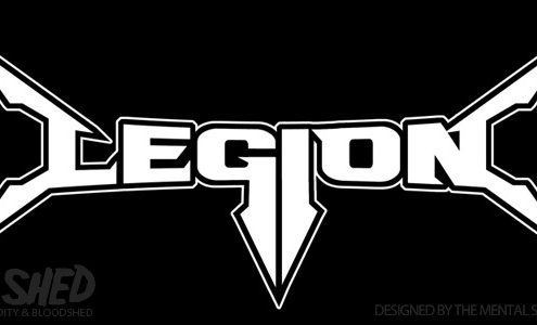 Legion thrash metal band logo design