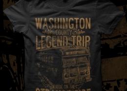 Washington County Legend Trip t-shirt design