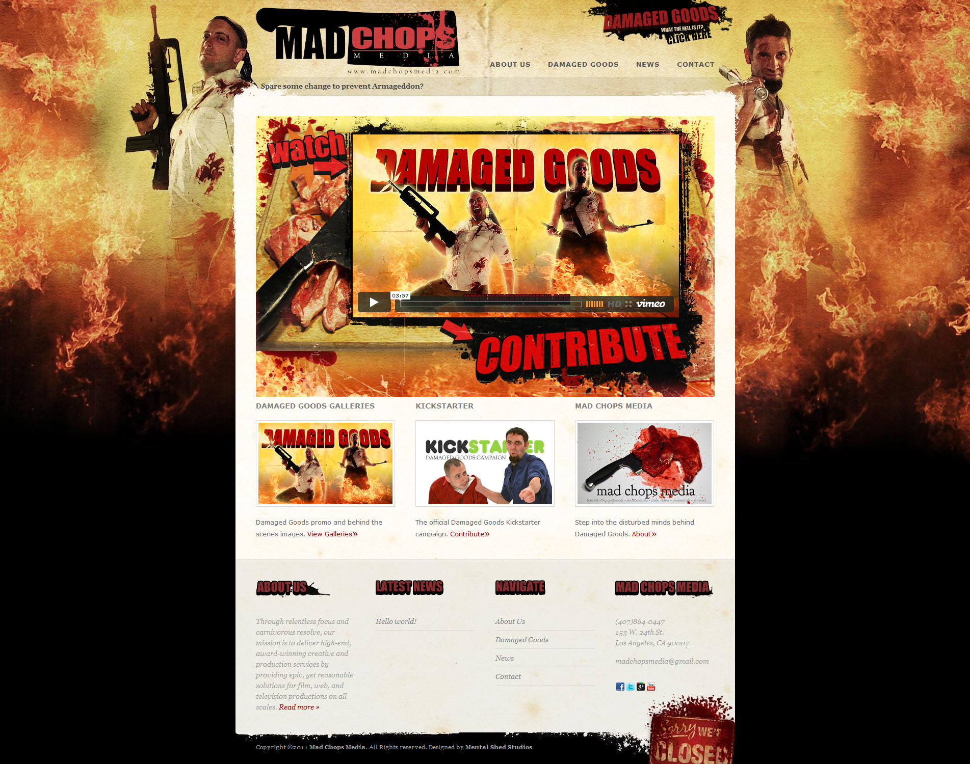 Mad Chops Media website design