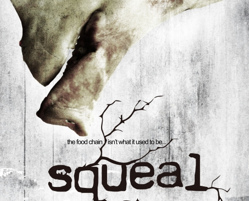 Squeal horror movie poster design
