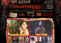 Texas Frightmare Weekend horror website design