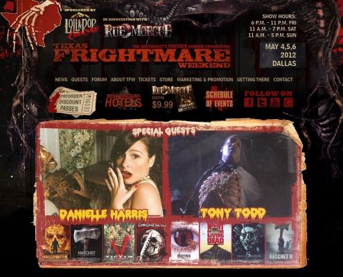 Texas Frightmare Weekend horror website design