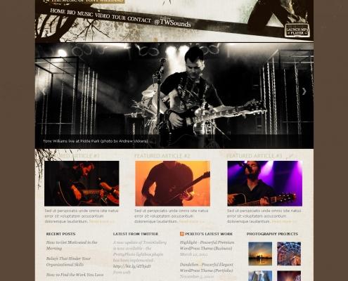 Tony Williams Website Design